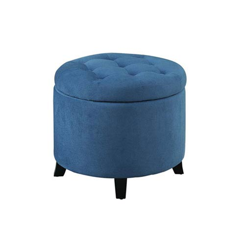 Designs4Comfort Blue Storage Ottoman