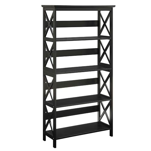 Convenience Concepts Oxford Black Five-Tier Bookcase