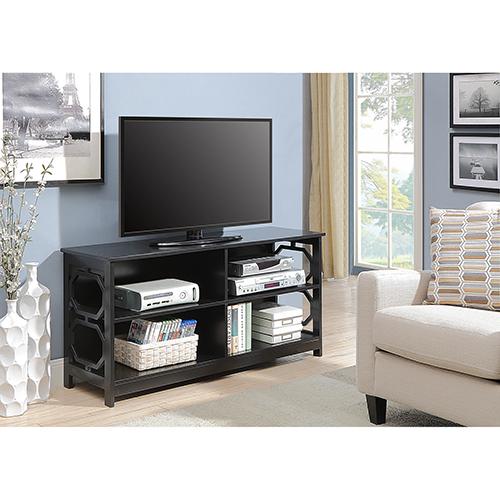 Omega Black TV Stand
