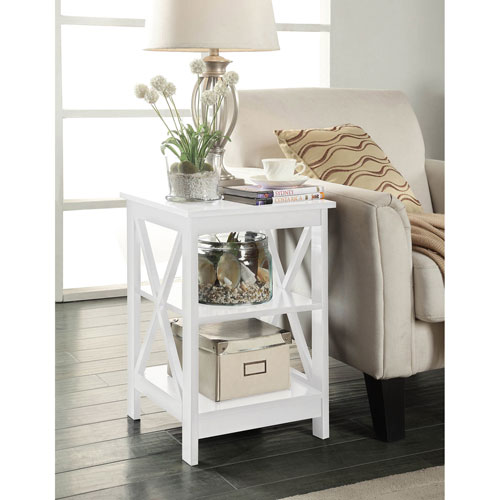 Convenience Concepts Oxford White End Table