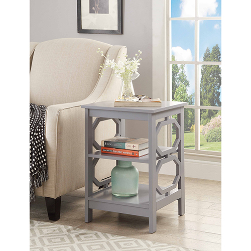 Convenience Concepts Omega Gray End Table