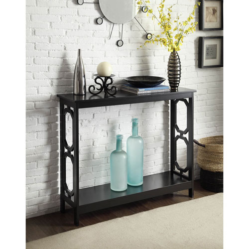 Convenience Concepts Omega Black Console Table