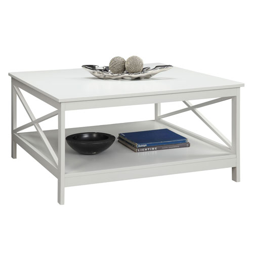 Convenience Concepts Oxford White 36 Inch Square Coffee Table