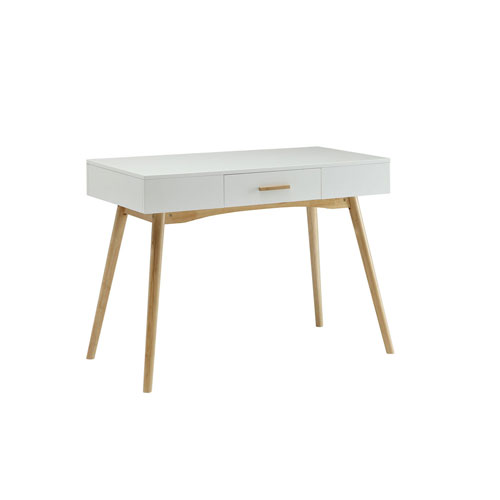 Oslo White Computer Desk with Drawer