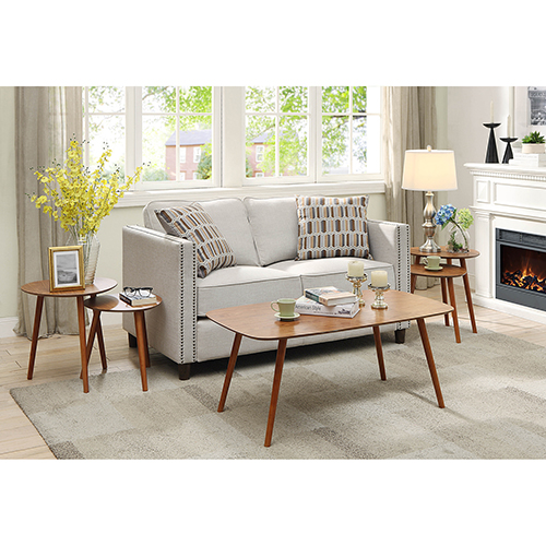 Convenience Concepts Oslo Cherry Nesting End Tables 203542ch | Bellacor