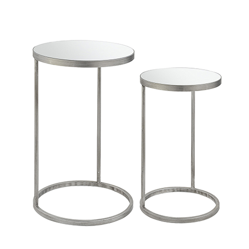 Convenience Concepts Gold Coast Julia Round Nesting Mirror End Tables