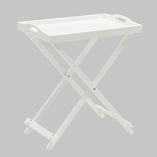 Designs2go White Folding Tray Table