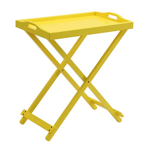 Designs2go Yellow Folding Tray Table