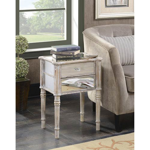 Modern Mirror Accent Table Bellacor