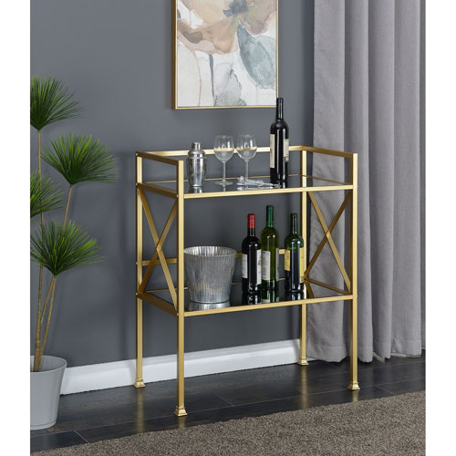 Gold Coast Mirror and Gold Bar Hall Table