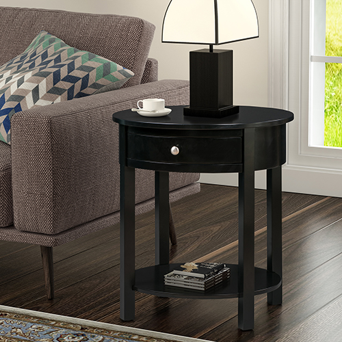 Convenience Concepts Classic Accents Black Cypress End Table