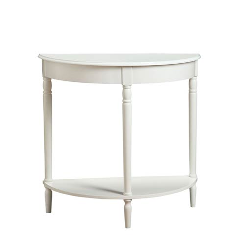 Convenience Concepts French Country White Entryway Hall Table - Convenience concepts french country coffee table