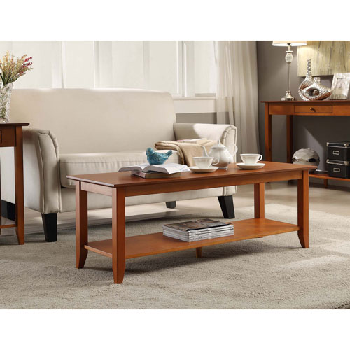 American Heritage Coffee Table with Shelf