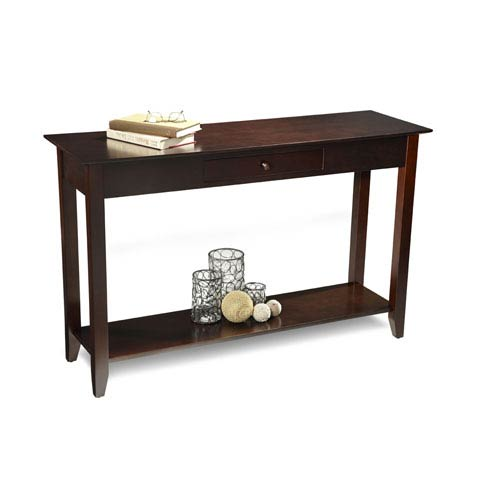 Convenience Concepts American Heritage Espresso Console Table With