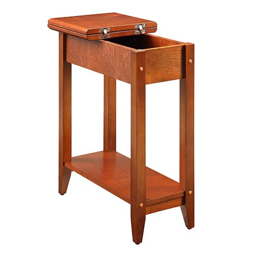 American Heritage Cherry Flip Top Side and End Table