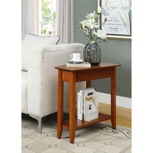 American Heritage Cherry Wedge End Table