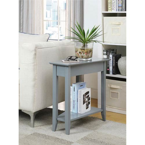 American Heritage Gray Wedge End Table