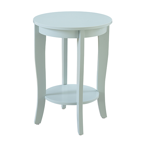 Convenience Concepts American Heritage Round End Table, Sea Foam