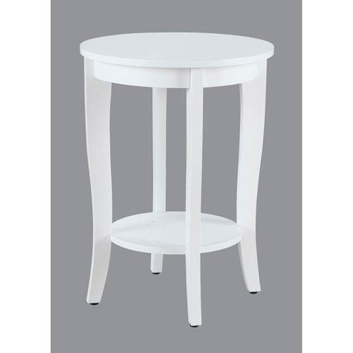American Heritage White Round End Table
