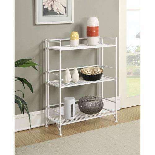 3 Tier Wide Folding Metal Shelf
