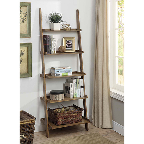 Convenience Concepts American Heritage Driftwood Bookshelf Ladder