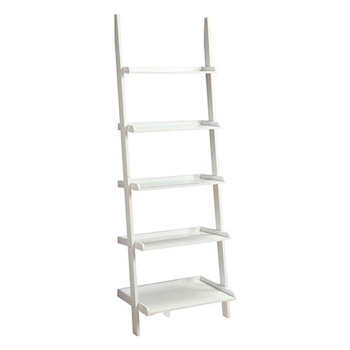 French Country White Bookshelf Ladder