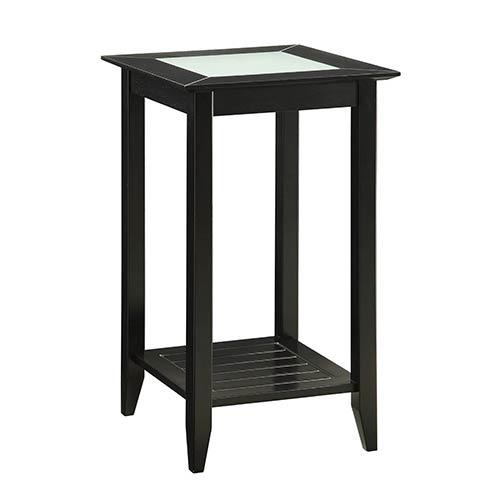 Convenience Concepts Carmel Black Side and End Table