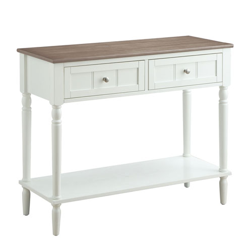 Convenience Concepts French Country Two Drawer Hall Table In - Convenience concepts french country coffee table