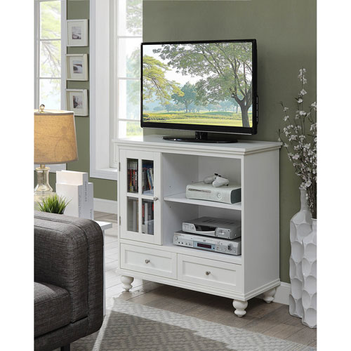 Tahoe Highboy TV Stand in White
