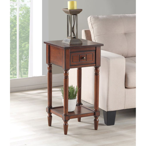 Convenience Concepts French Country Khloe Accent Table in Mahogany