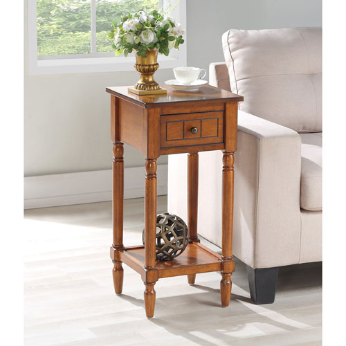 French Country Khloe Accent Table in Walnut