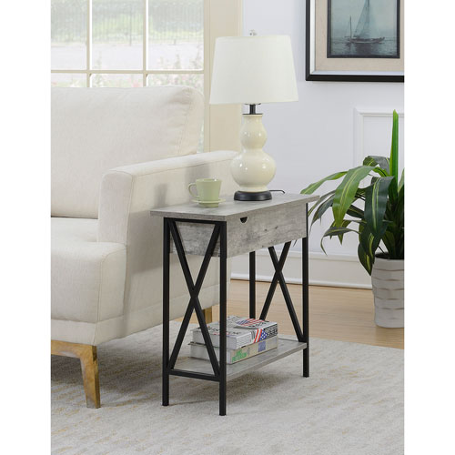 Tucson Electric Flip Top Table in Faux Birch