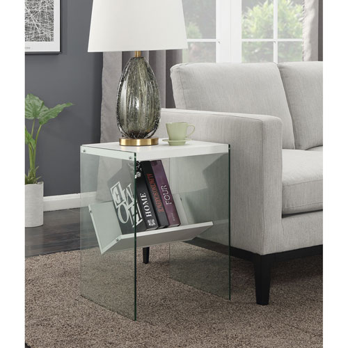 Convenience Concepts SoHo End Table in White