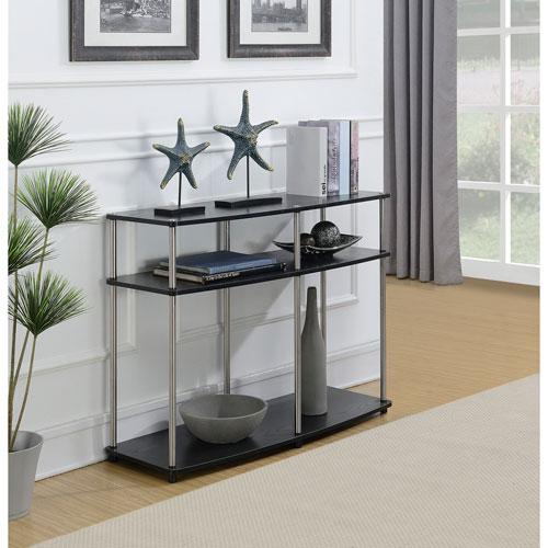 Convenience Concepts Designs2Go No Tools Console Table in Black Woodgrain