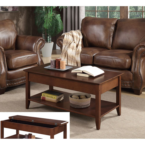 Convenience Concepts American Heritage Flip Top Coffee Table In