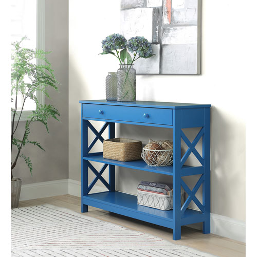 Oxford 1 Drawer Console Table in Blue