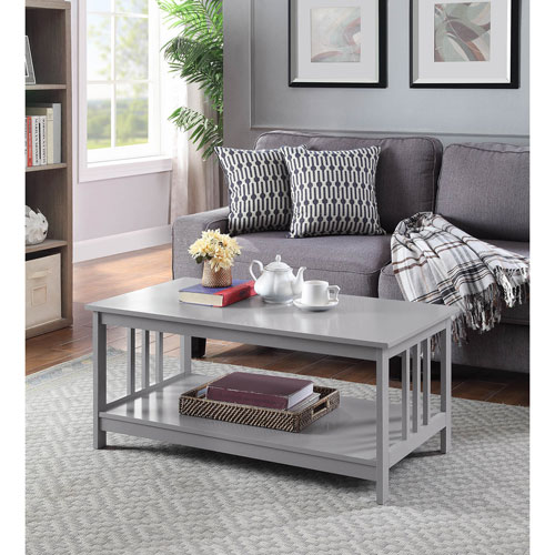 Convenience Concepts Mission Coffee Table in Gray