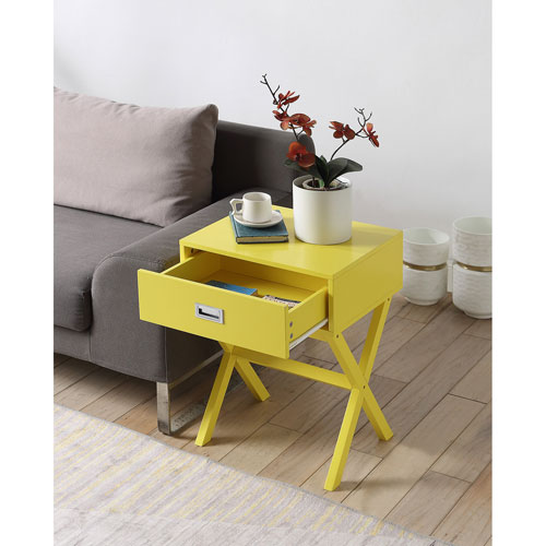 Designs2Go Landon End Table in Yellow