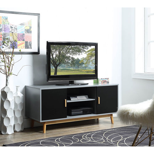 Convenience Concepts Oslo TV Stand in Gray
