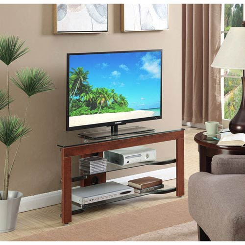 Convenience Concepts Designs2go Wood And Glass Tv Stand Tv 01ch