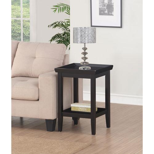 Convenience Concepts Ledgewood Black End Table