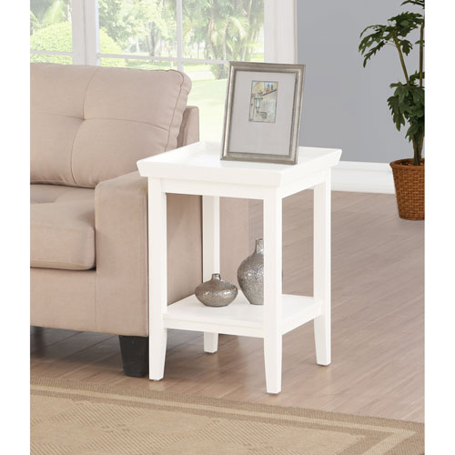 Convenience Concepts Ledgewood White End Table