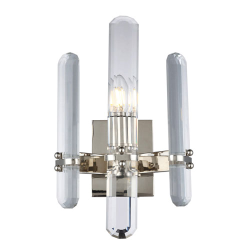 Lincoln Polished Nickel 10-Inch One-Light Wall Sconce
