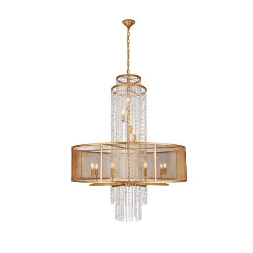 Legacy Golden Iron 42-Inch 12-Light Chandelier