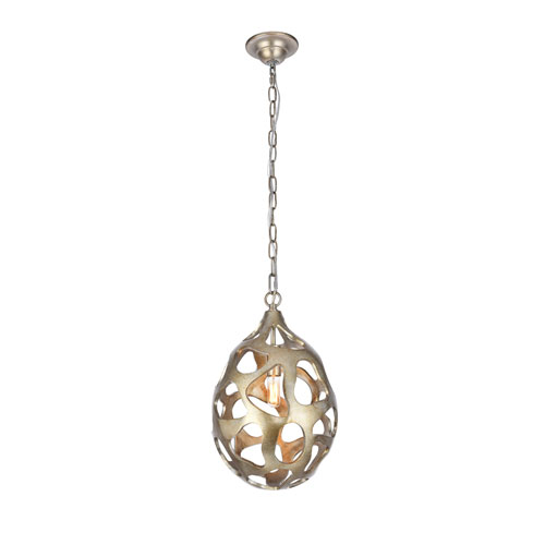 Bombay Gilded Silver 10-Inch One-Light Pendant