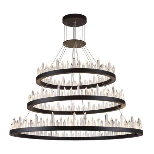 Malta Satin Dark Grey 128-Light LED Chandelier