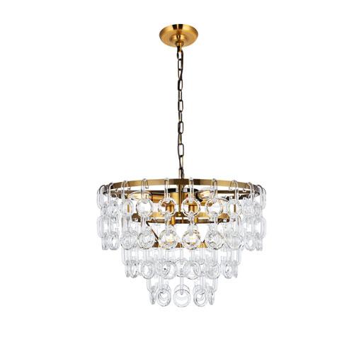 Eden Light Antique Brass 20-Inch Six-Light Pendant