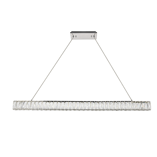 Monroe Chrome 47-Inch LED Chandelier