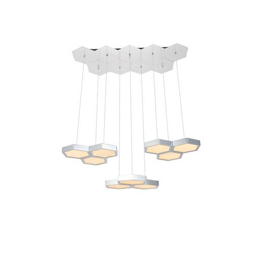 Hampton Chrome 13-Inch Three-Light LED Pendant