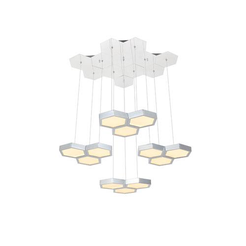 Hampton Chrome 24-Inch Three-Light LED Pendant